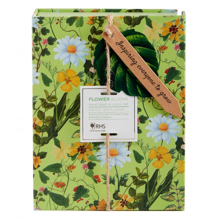 Daisy Garland - RHS Flower Blooms Scented Hand Wash & Lotion Gift Set Heathcote & Ivory